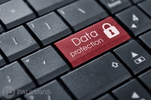 red data protection button on keyword
